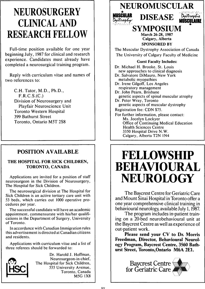 CJN volume 13 issue 4 Cover and Back matter   Canadian
