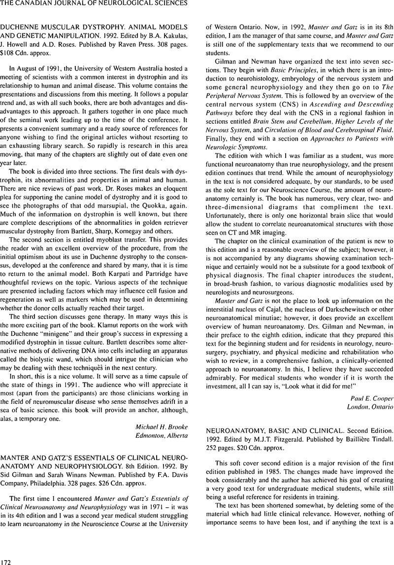 Manter And Gatzs Essentials Of Clinical Neuroanatomy And