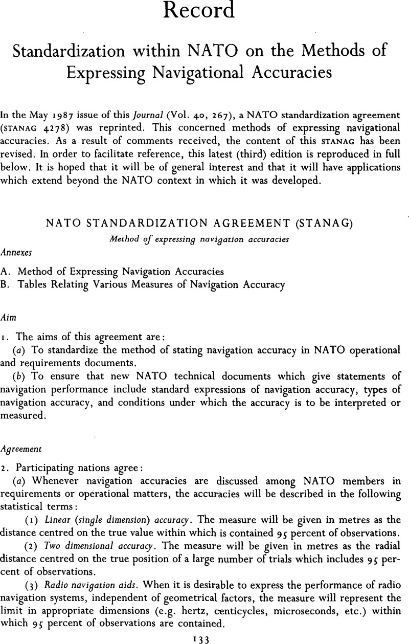Standardization Within Nato On The Methods Of Expressing