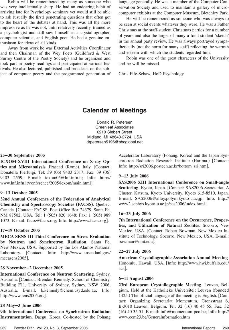 85 2005 Usa Calendar