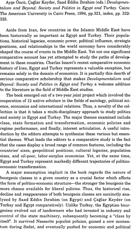 politics in egypt and turkey cairo