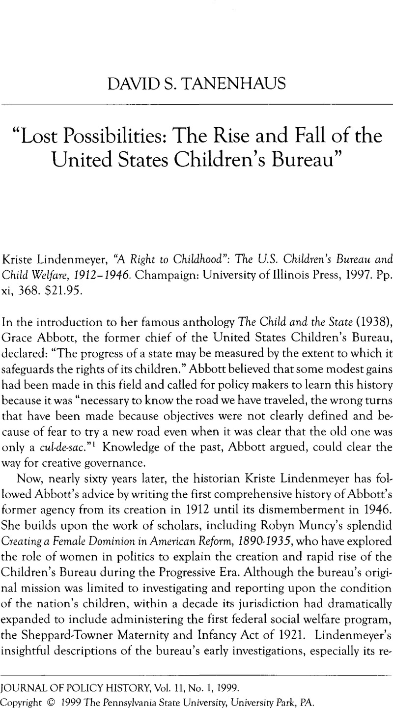 article on lost childhood