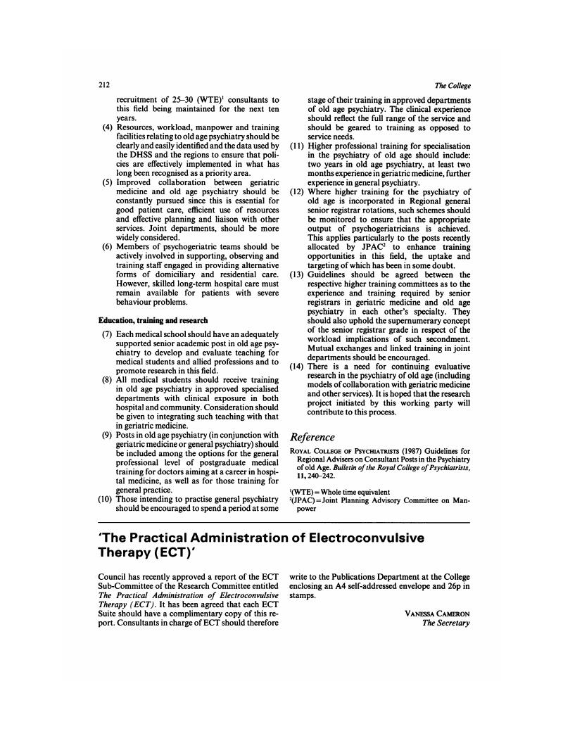 The Practical Administration of Electroconvulsive Therapy