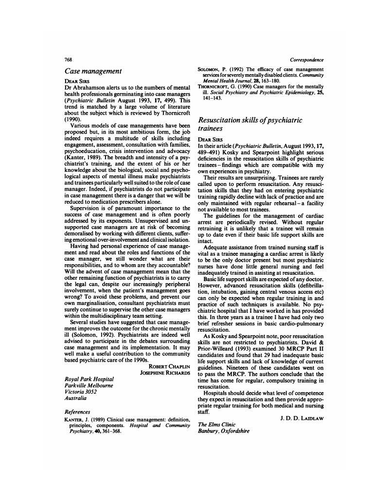 case management | psychiatric bulletin | cambridge core