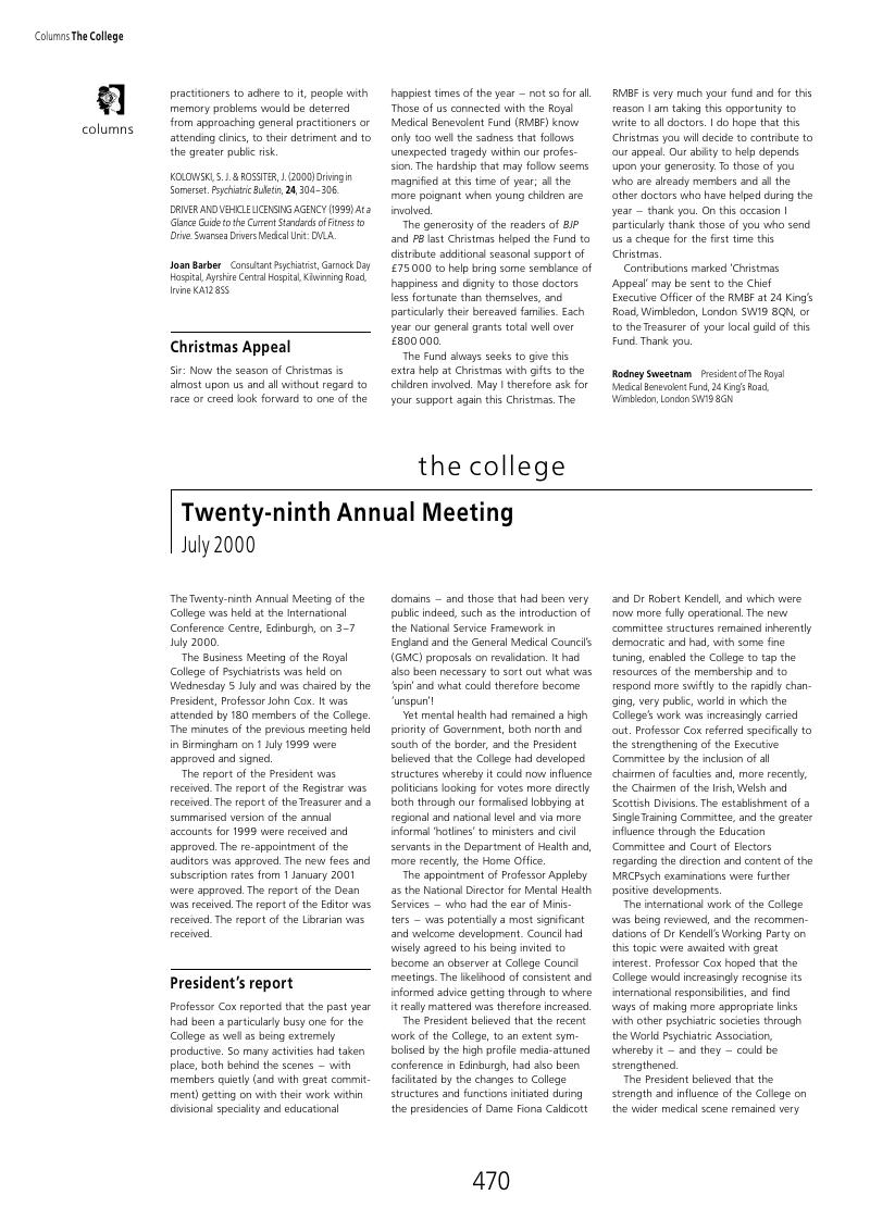 Twenty ninth annual meeting july 2000 psychiatric bulletin twenty ninth annual meeting july 2000 publicscrutiny Choice Image