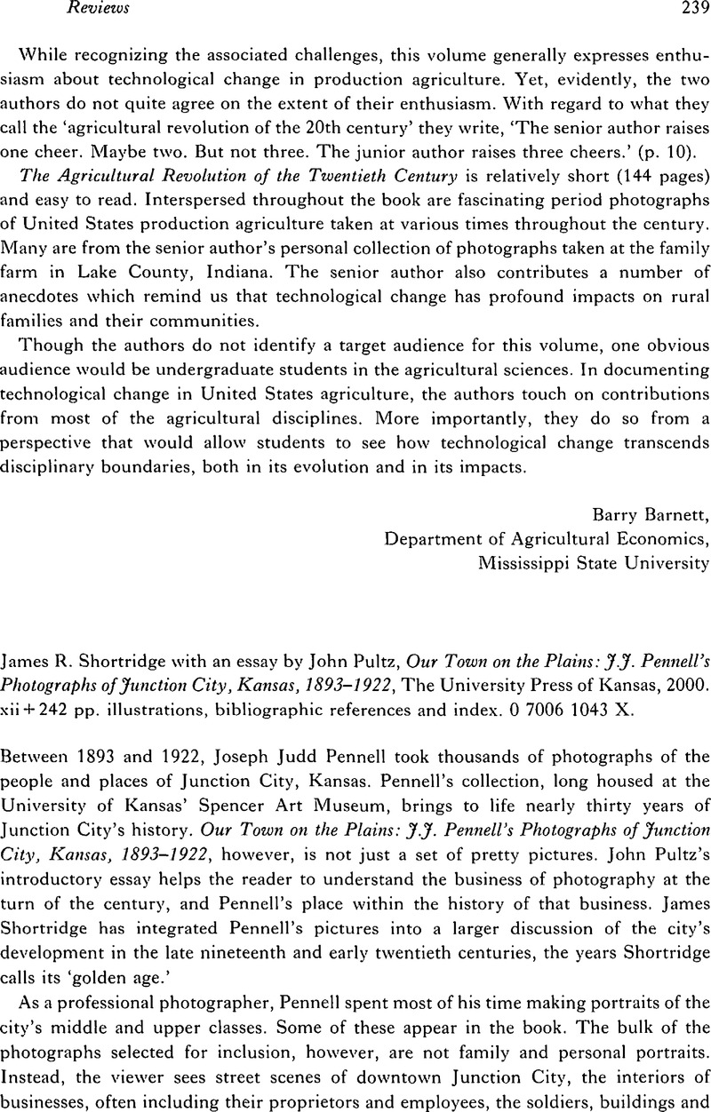 James R Shortridge With An Essay By John Pultz Our Town On The  James R Shortridge With An Essay By John Pultz Our Town On The Plains  Jj Pennells Photographs Of Junction City Kansas  The  University