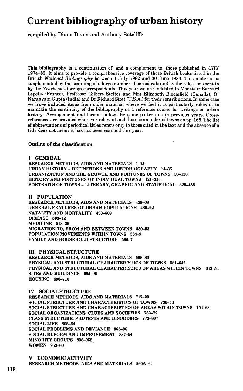 Current Bibliography Of Urban History Cambridge Core Short Circuit Coup De Vieux Cinma Annes 80 Et 90 Copyright