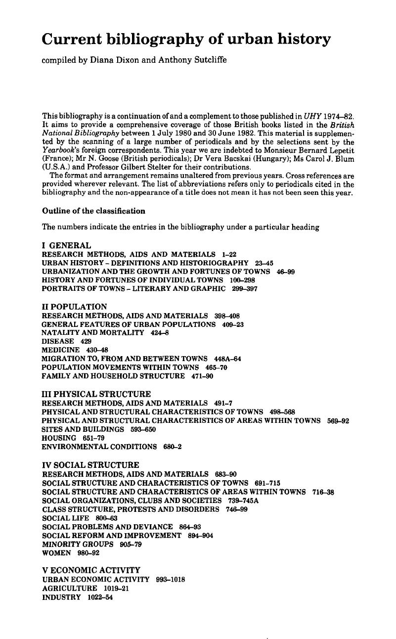 Current Bibliography Of Urban History Cambridge Core Renault Espace Je Wiring Diagram Copyright