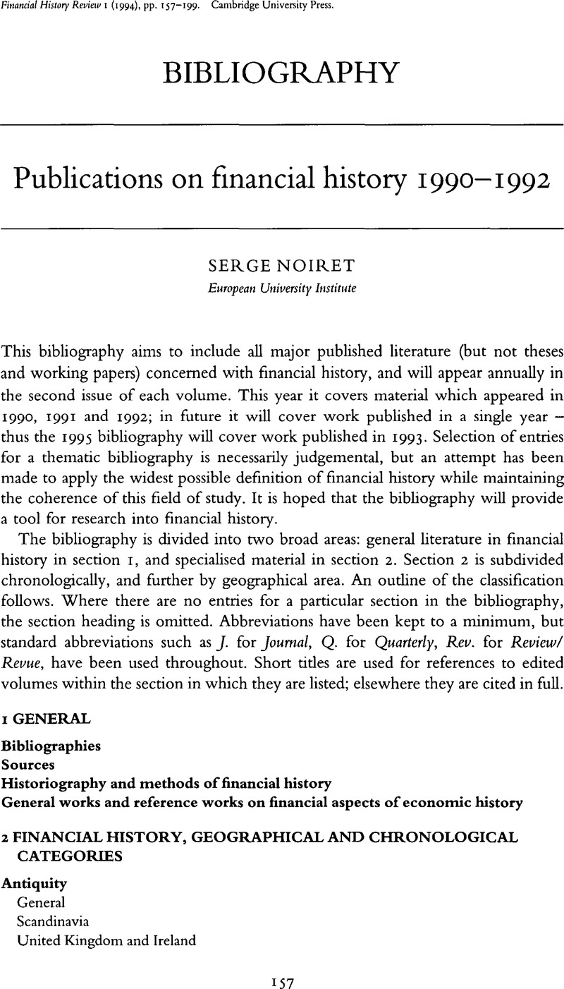 Publications on financial history 1990–1992 | Financial History ...