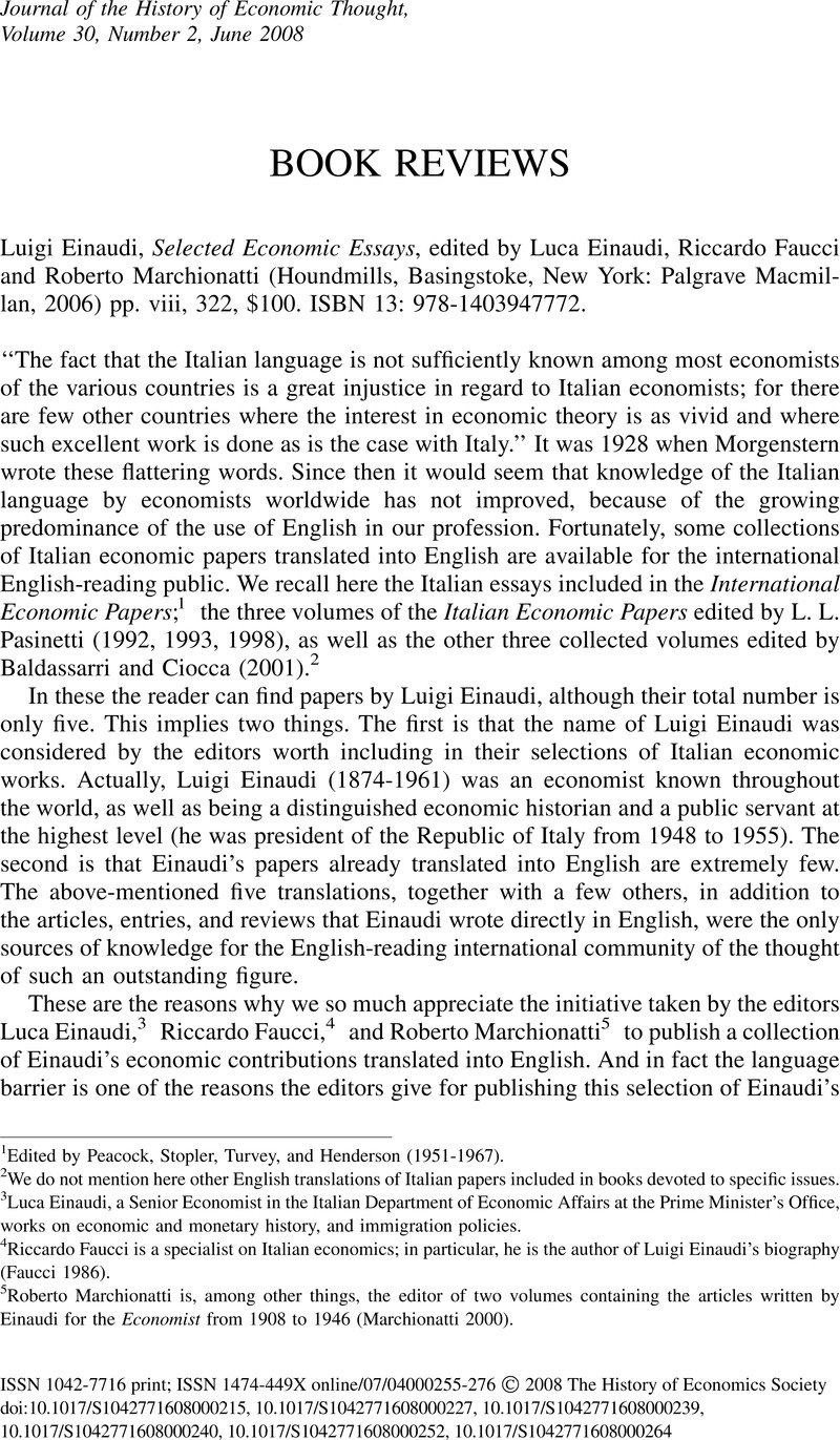 Religion And Science Essay Luigi Einaudi Selected Economic Essays Edited By Luca Einaudi Riccardo  Faucci And Roberto Marchionatti Houndmills Basingstoke New York  Palgrave  Argumentative Essay Thesis Statement also Essays For High School Students Luigi Einaudi Selected Economic Essays Edited By Luca Einaudi  Help With Essay Papers