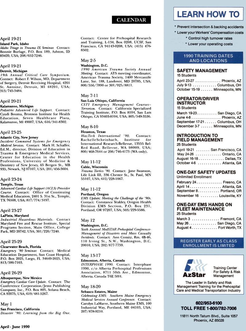 Calendar   Prehospital and Disaster Medicine   Cambridge Core