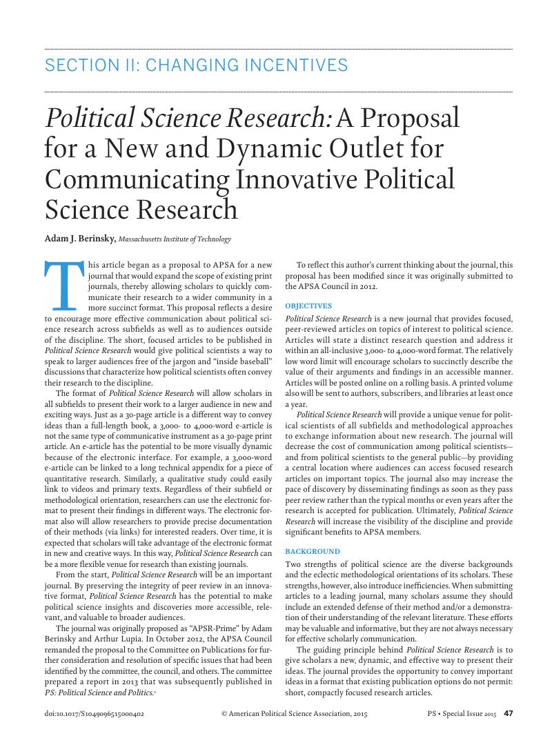 Phd research proposal in political science