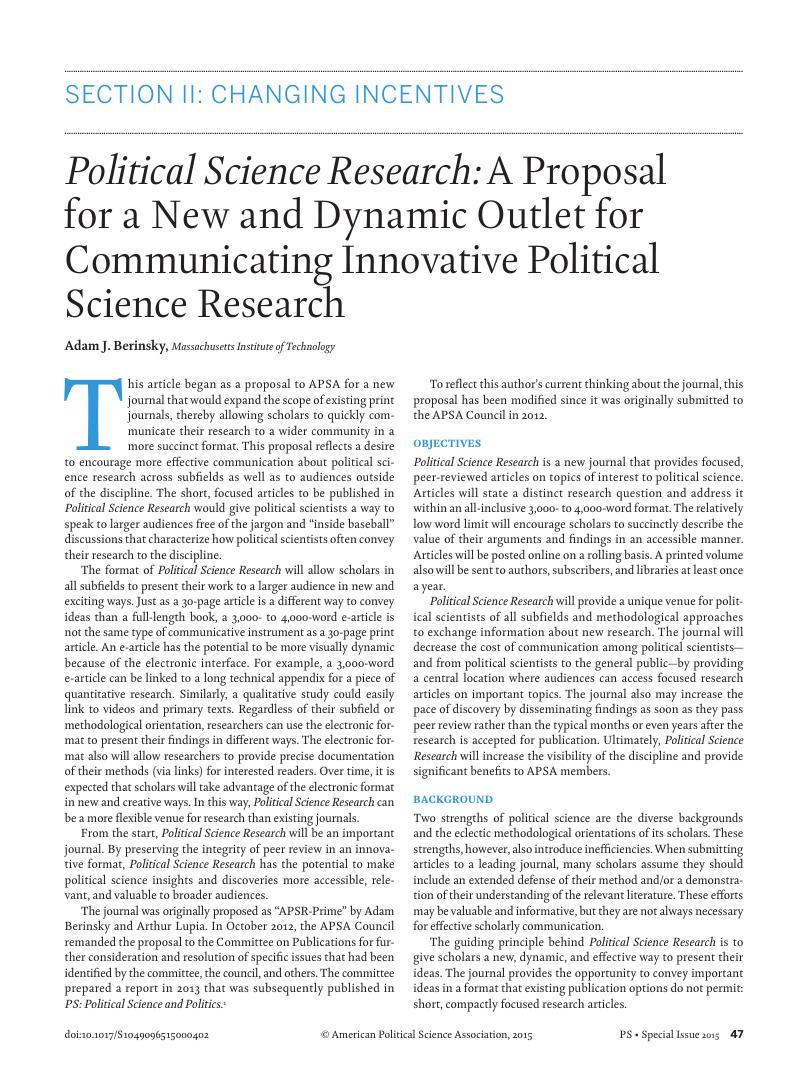 Dissertation proposal outline political science