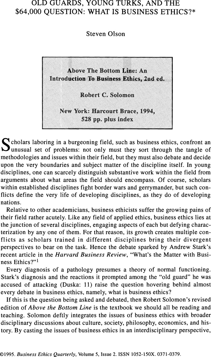 an answer to albert carrs article is business bluffing ethical Article summary is business bluffing ethical (albert carr) main claims the ethics of business are impersonal game ethics no one should condemn business because its standards of right and wrong differ from the prevailing traditions of morality in society.