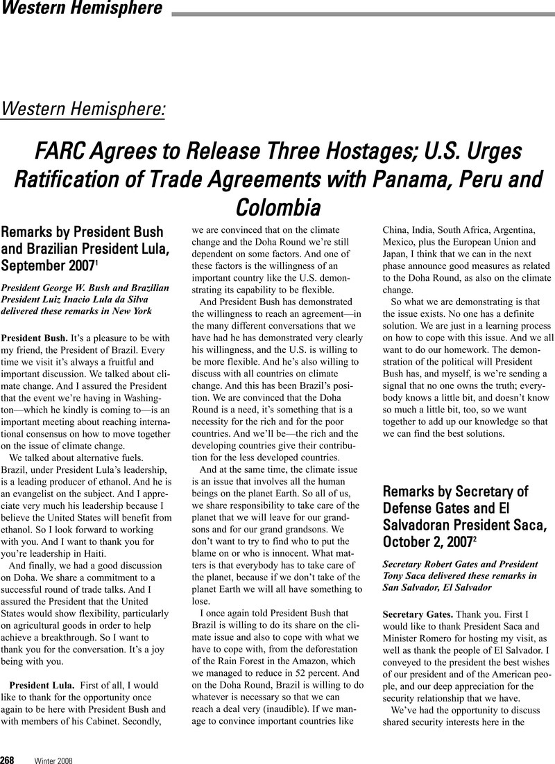 Farc Agrees To Release Three Hostages Us Urges Ratification Of