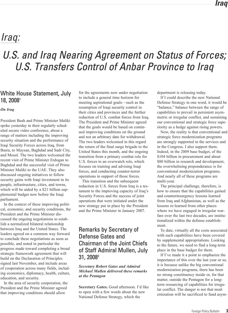 U S And Iraq Nearing Agreement On Status Of Forces U S Transfers