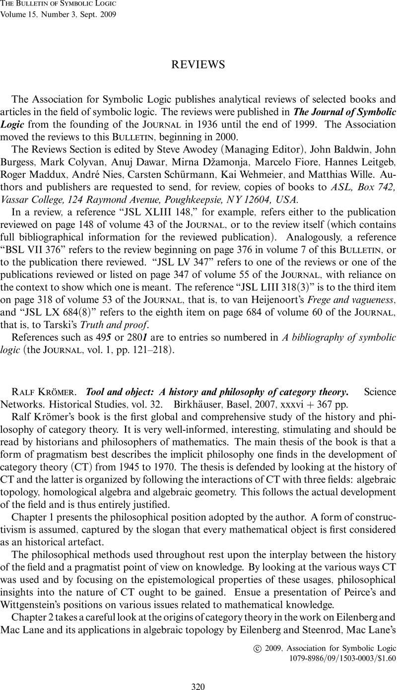 Ralf Krmer Tool And Object A History And Philosophy Of Category