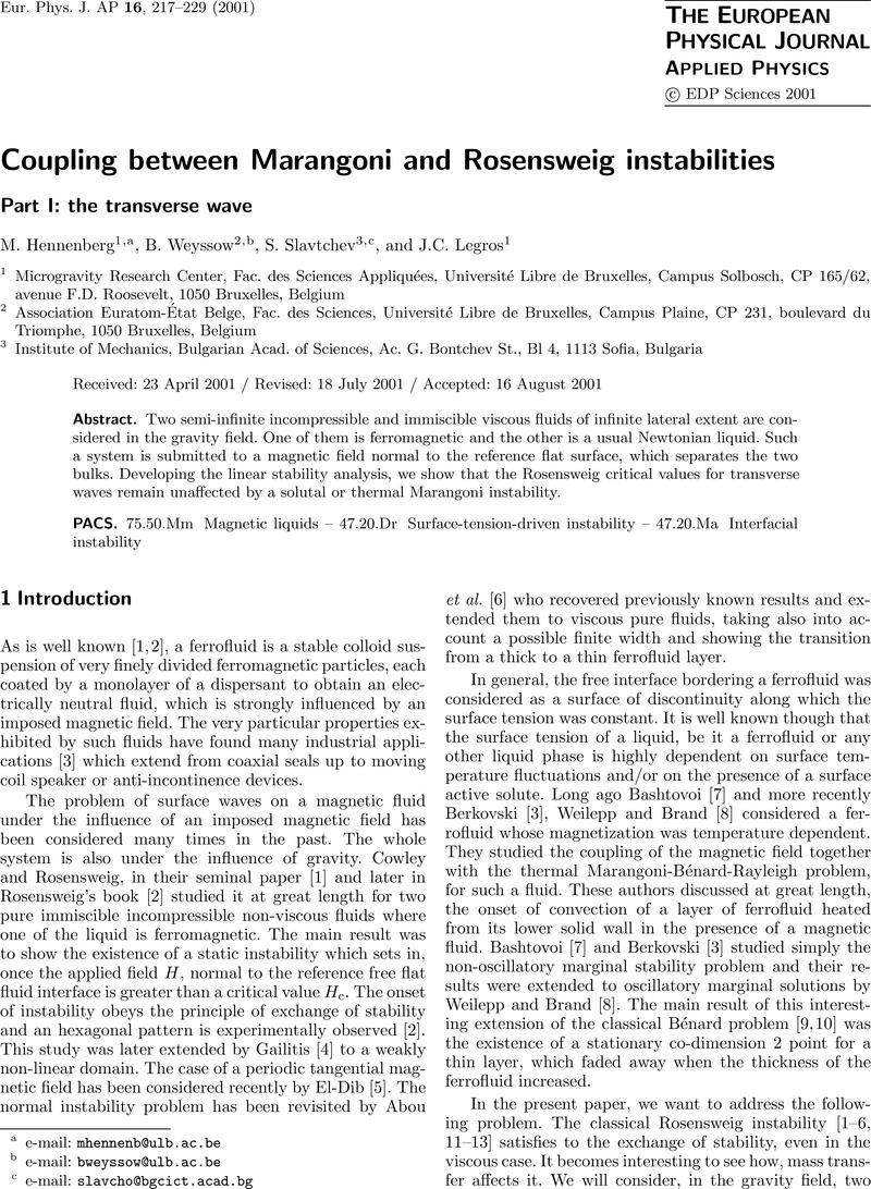 Coupling between Marangoni and Rosensweig instabilities