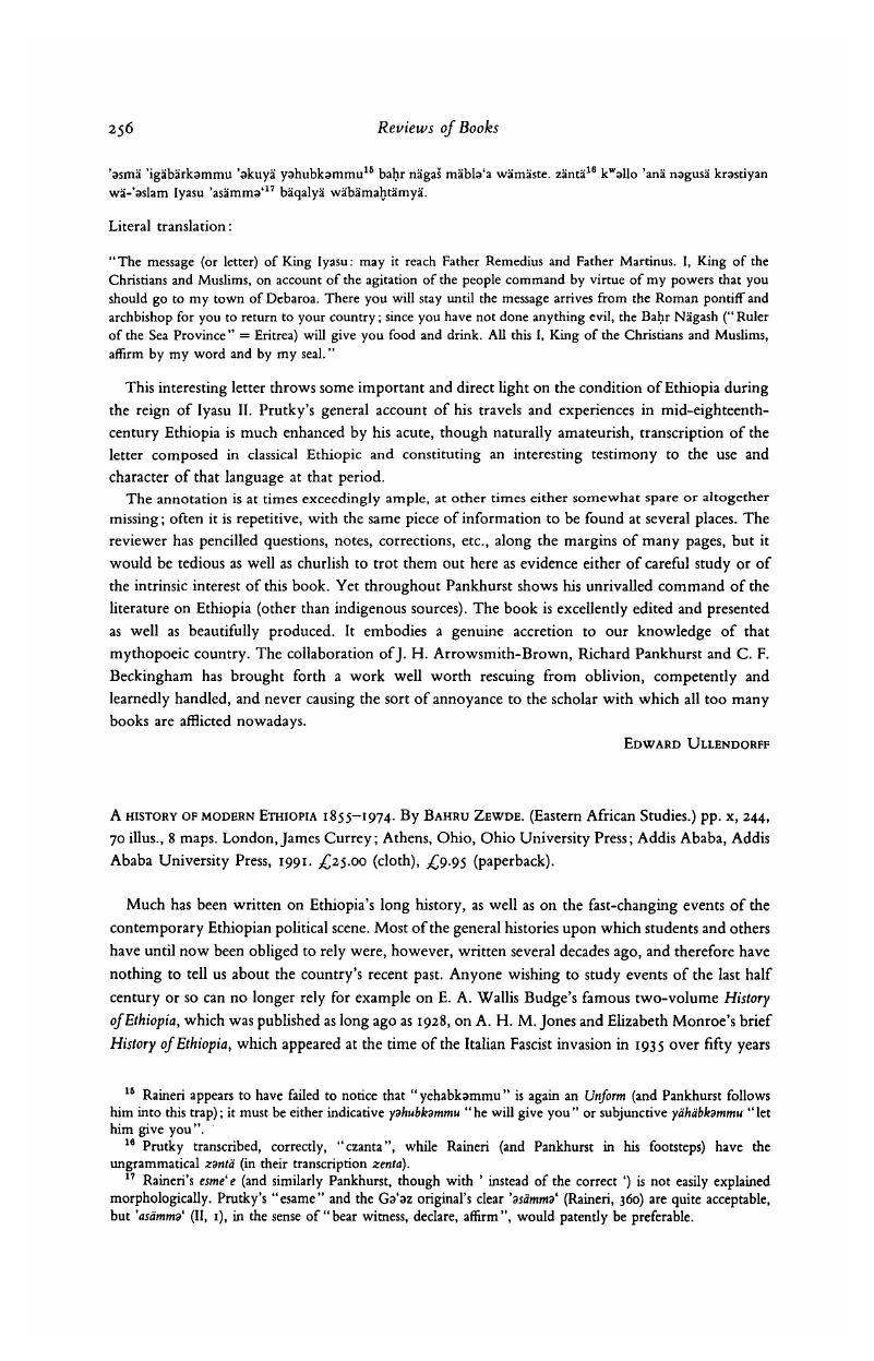 A history of modern Ethiopia 1855–1974  By Bahru Zewde
