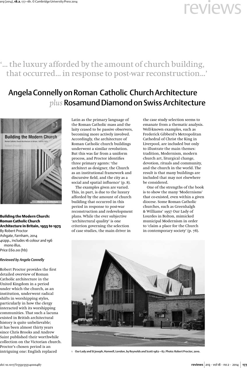 Building the Modern Church: Roman Catholic Church Architecture in