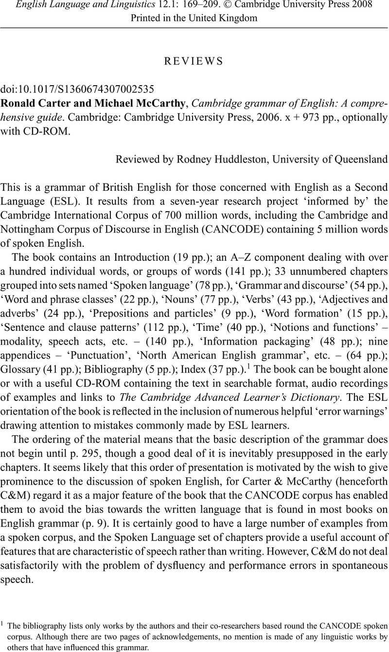 Cambridge grammar guide array ronald carter and michael mccarthy cambridge grammar of english a rh cambridge org fandeluxe Gallery
