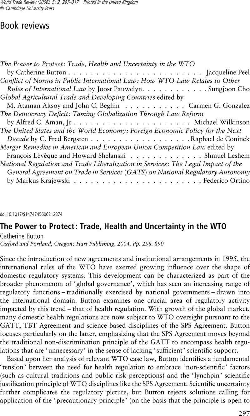 National Regulation And Trade Liberalization In Services The Legal