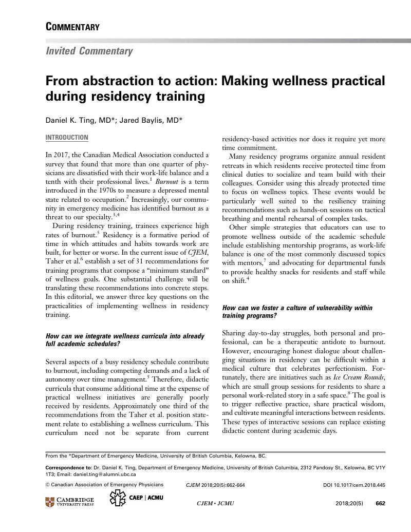 From abstraction to action: Making wellness practical during