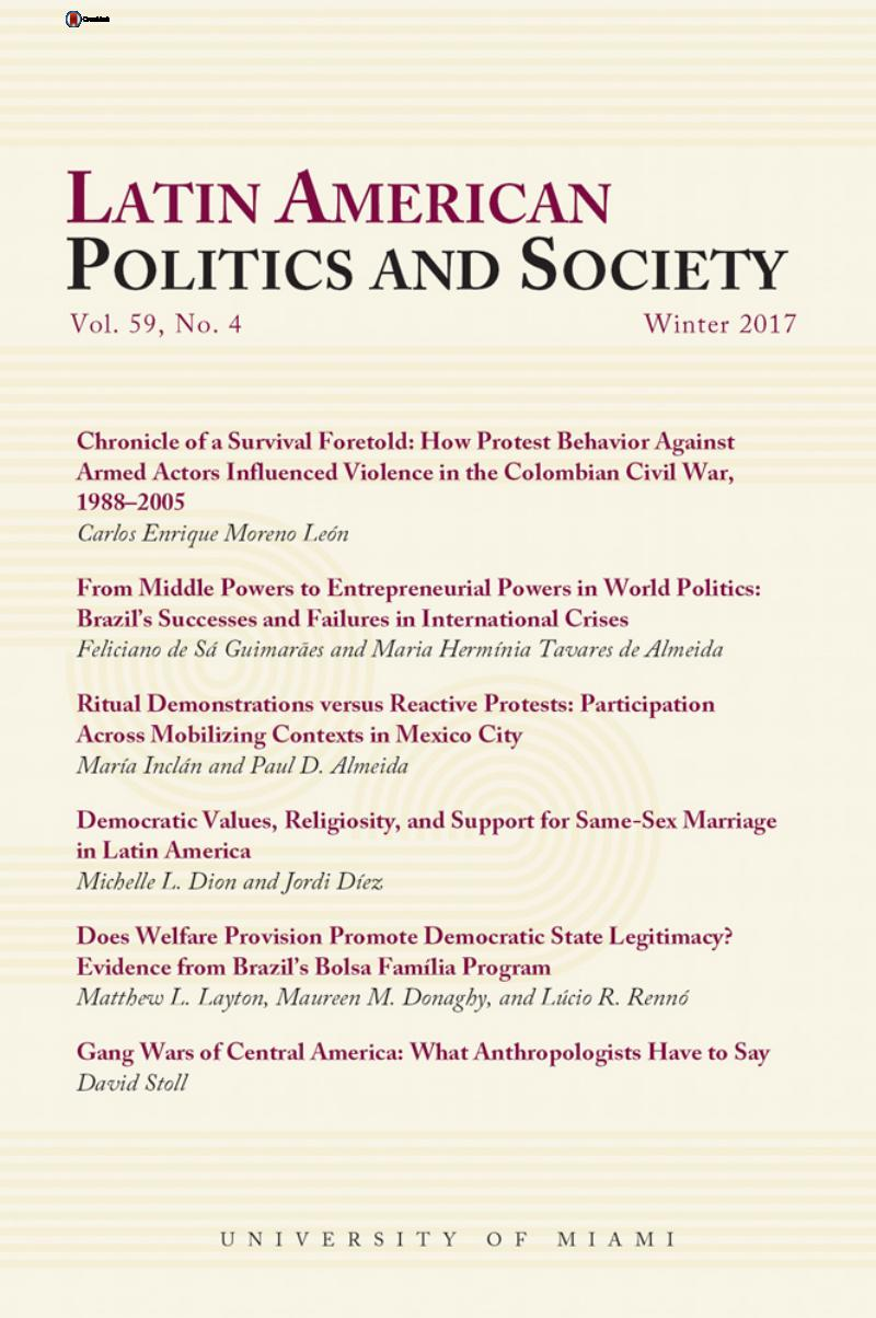 Lap Volume 59 Issue 4 Cover And Front Matter Latin American