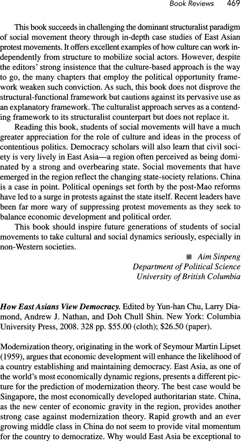 how east asians view democracy shin doh chull diamond larry chu yun han nathan andrew j