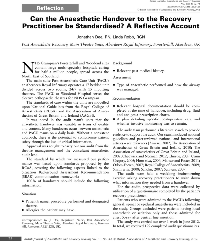 what is a reflective account