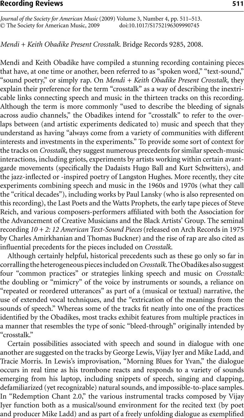 music critique example