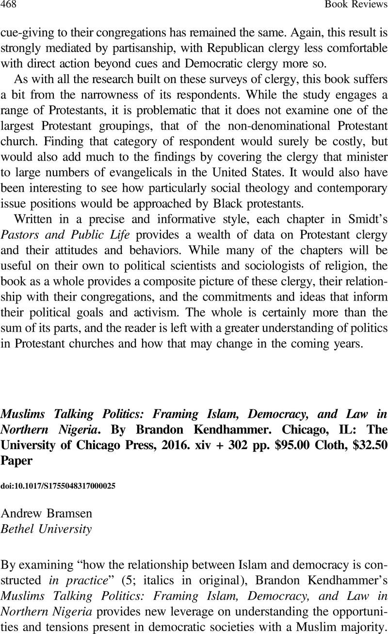 Muslims Talking Politics: Framing Islam, Democracy, and Law in ...