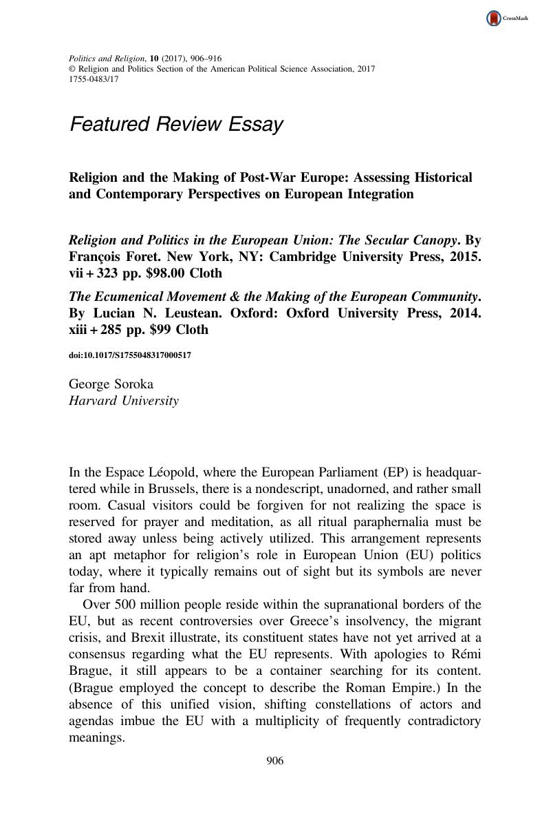 religion and the making of postwar europe assessing historical and  copyright