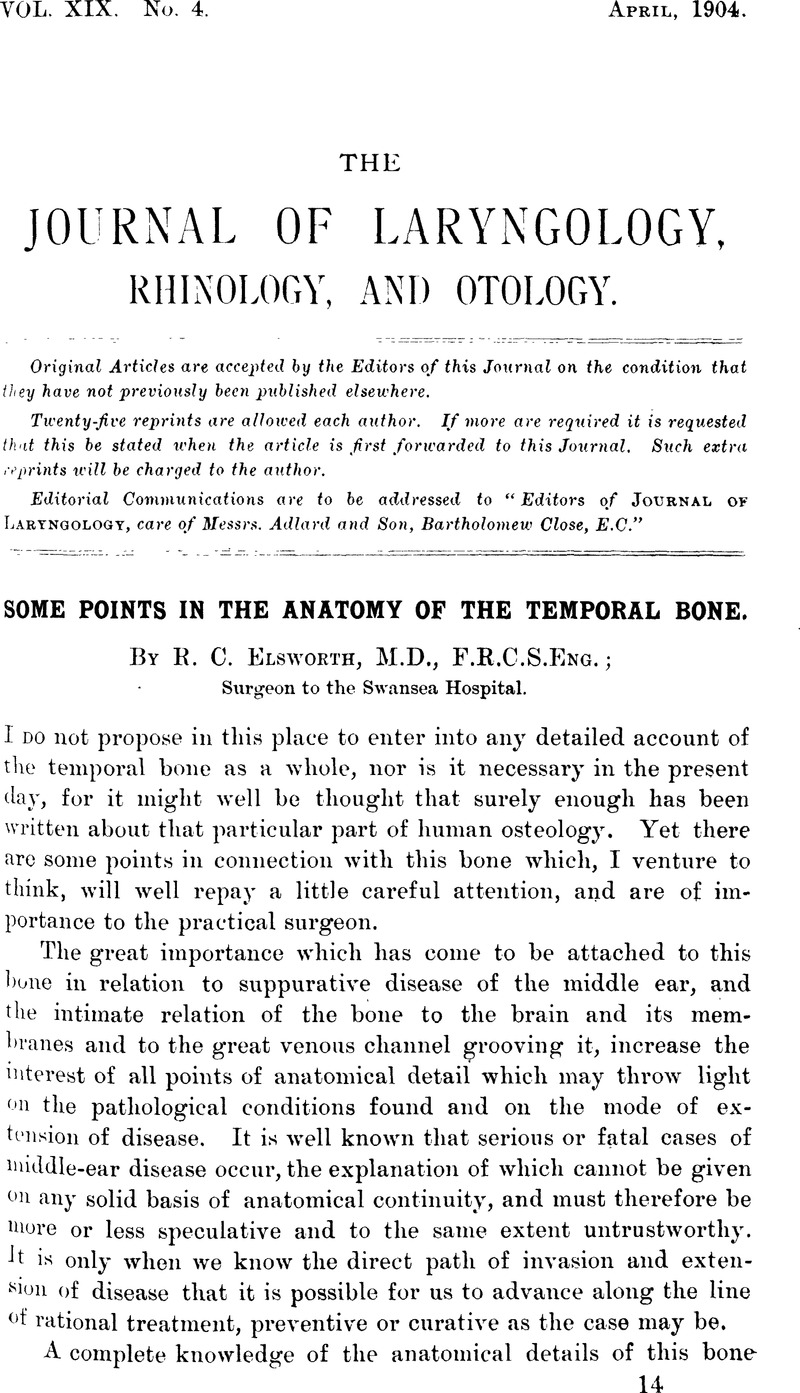 Some Points in the Anatomy of the Temporal Bone | The Journal of ...