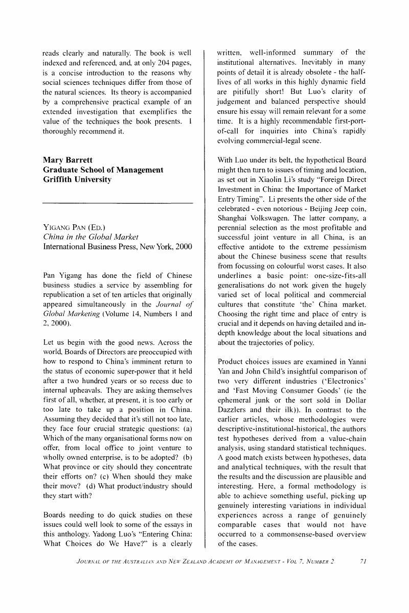 Yigang Pan (Ed ) China in the Global MarketInternational