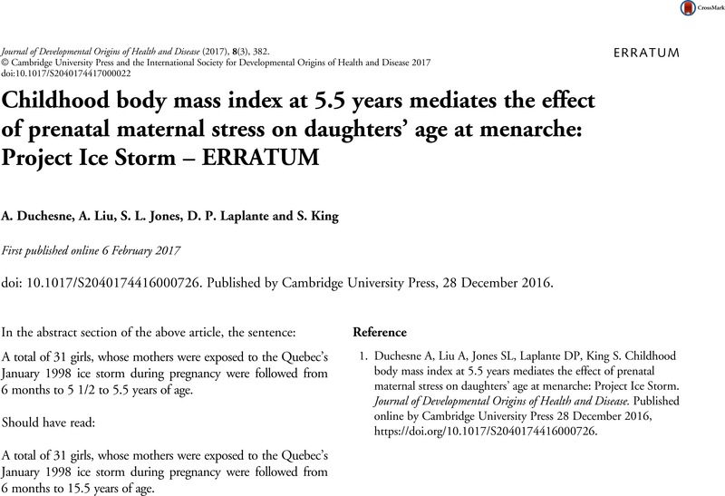 Childhood body mass index at 5 5 years mediates the effect