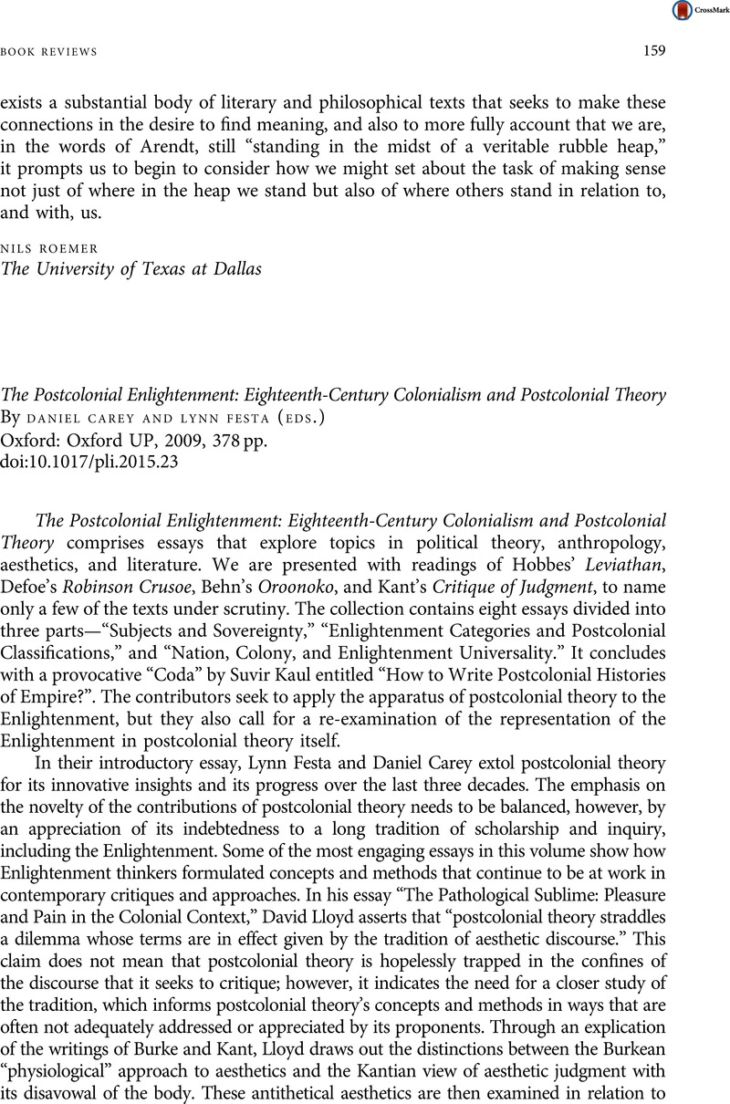 The Postcolonial Enlightenment: Eighteenth-Century