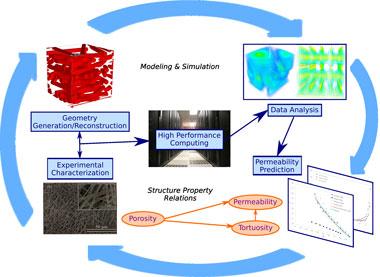 Multiscale simulation of transport phenomena in porous media: from