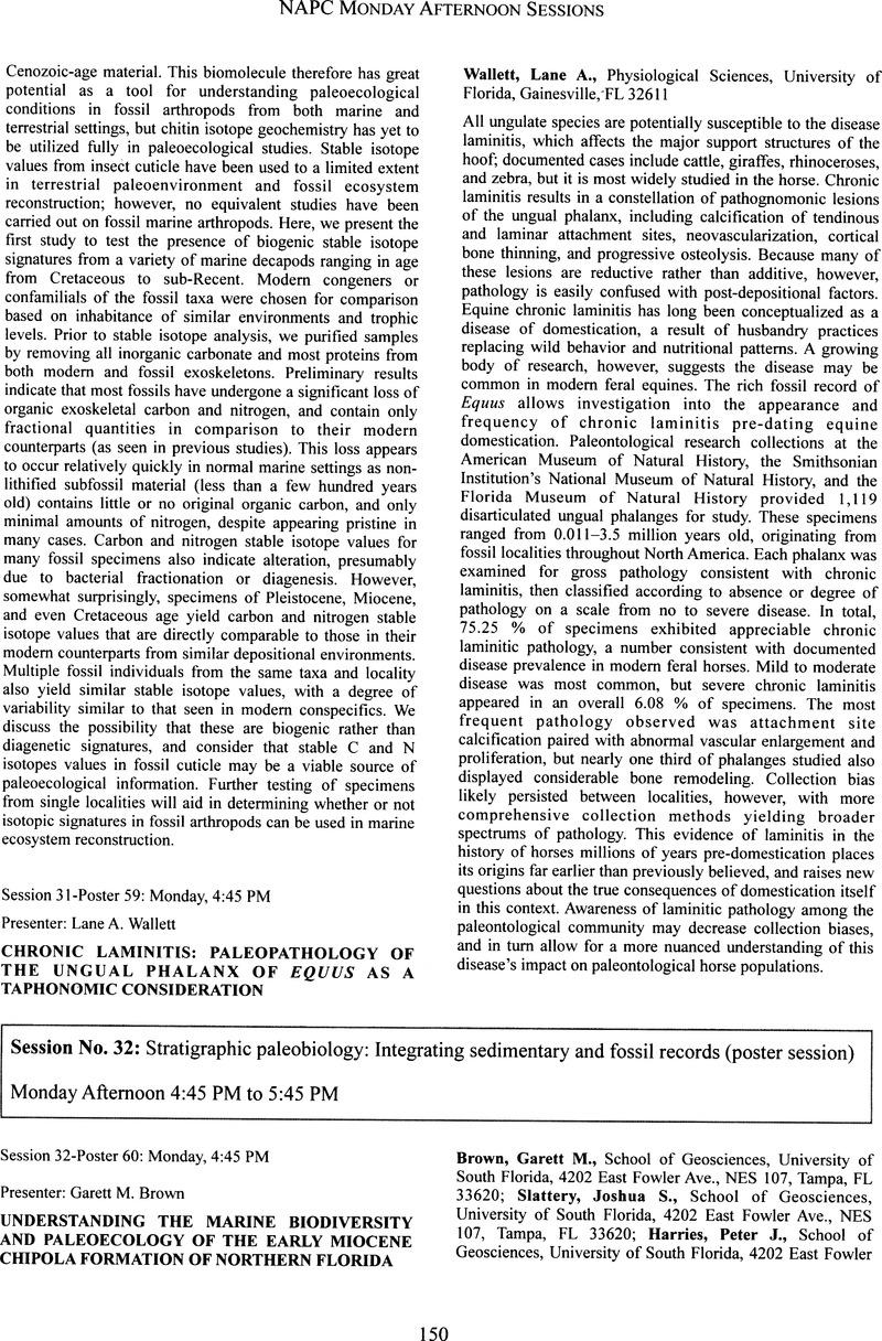 Chronic Laminitis Paleopathology Of The Ungual Phalanx Equus As A Taphonomic Consideration