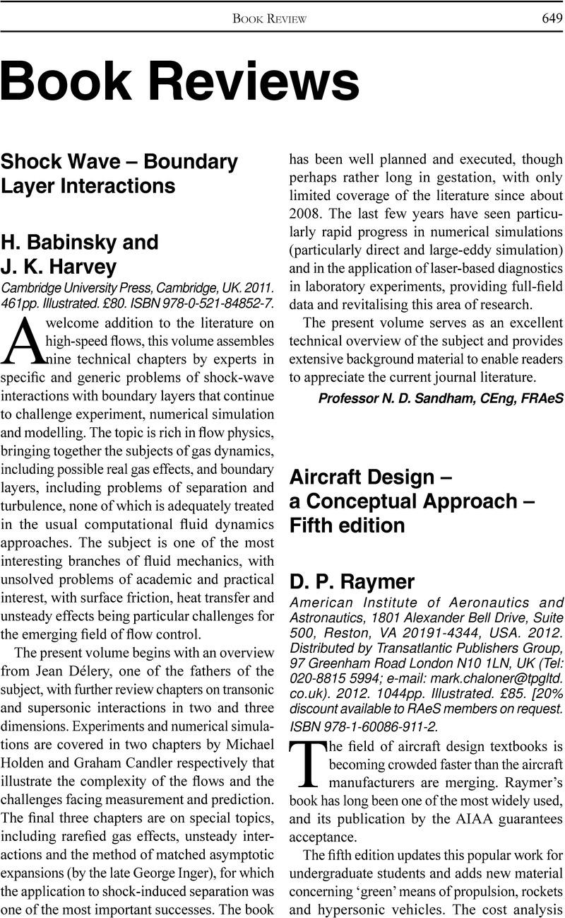 Aircraft Design A Conceptual Approach Fifth Edition Pdf