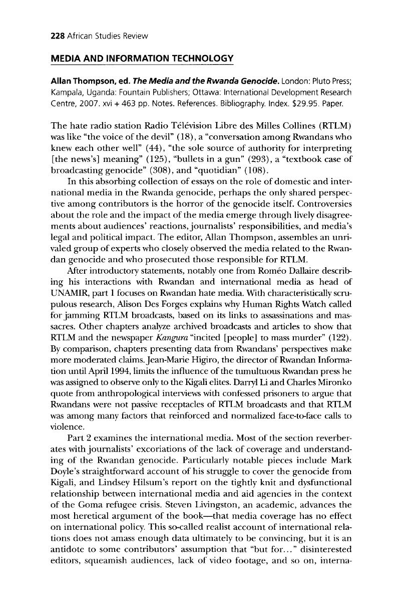 rwanda genocide research paper