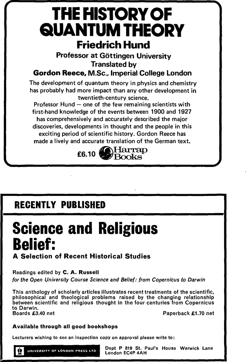 bjh volume 7 issue 1 cover and back matter the british journal for