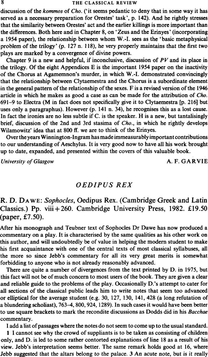 Oedipus Rex Full Text Pdf