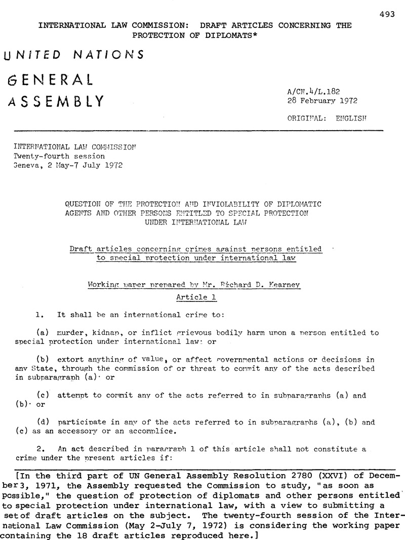 Commission Decisions: 1972
