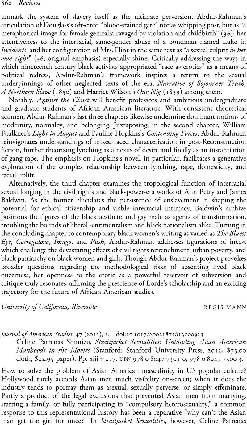 American studies asian journal