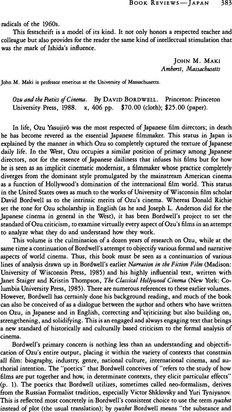 Ozu And The Poetics Of Cinema Pdf
