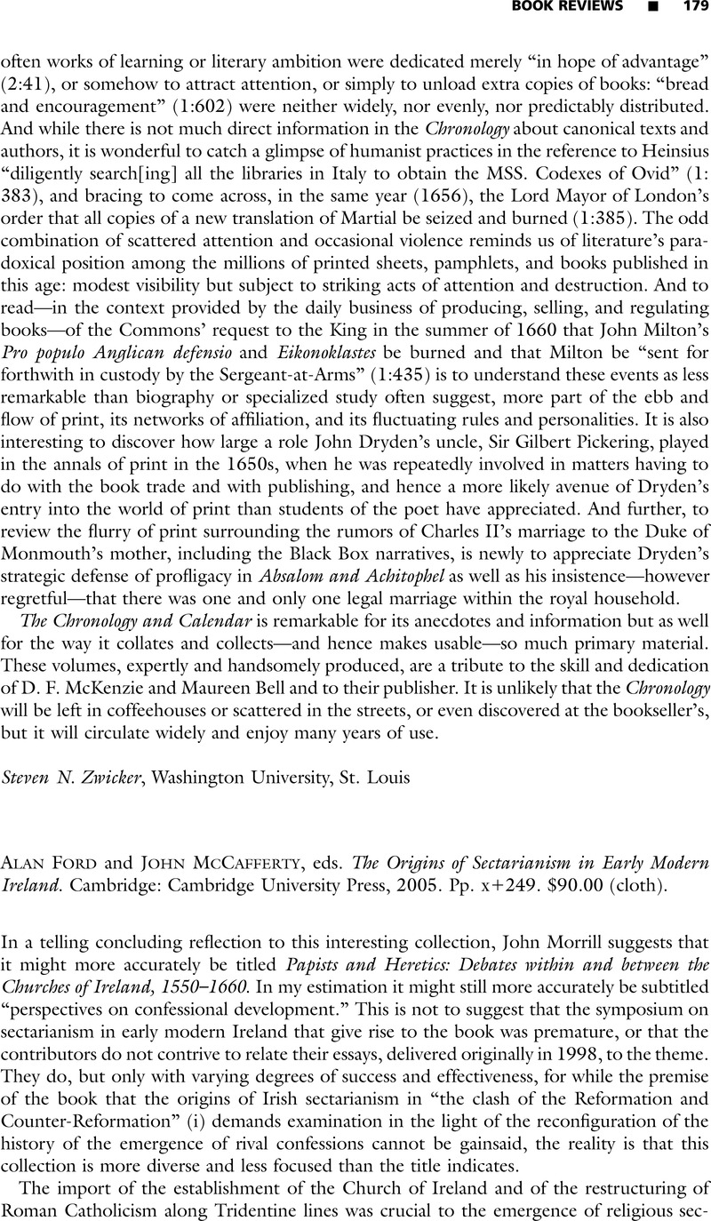 The Origins of Sectarianism in Early Modern Ireland
