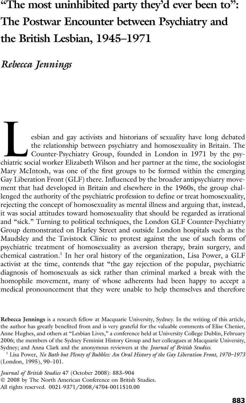 British lesbian party
