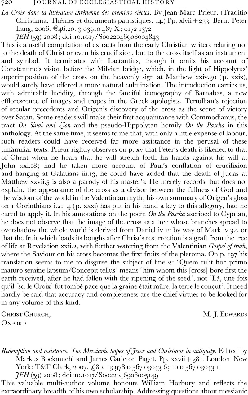 Redemption and Resistance: The Messianic Hopes of Jews and Christians in Antiquity