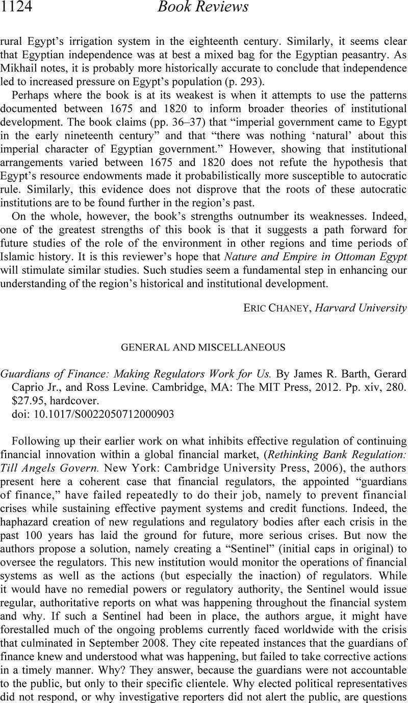Guardians of Finance: Making Regulators Work for Us (MIT Press)